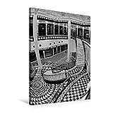 Premium Textil-Leinwand 60 cm x 90 cm hoch, Quartier 206 - Friedrichstadt-Passagen in Berlin-Mitte | Wandbild, Bild auf Keilrahmen, Fertigbild auf ... BERLIN in Schwarzweiss (CALVENDO Orte)
