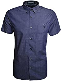 5253d8d83 Ted Baker Eligant SS Denim Dobby Shirt Blue