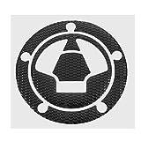 GOZAR Moto 3D Réservoir De Carburant Bouchon Housse Pad Autocollant pour Kawasaki Ninja Z1000 X-6R/10R/12R/14R Z750 Z800 - Noir