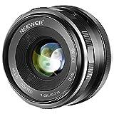 Neewer Obiettivo con Fuoco Manuale APS-C 35mm F/1,7 Apertura Grande Definizione Alta MC per Obiettivi Canon EF-M Mount Serie EOS M Fotocamere Mirrorless M100/M10/M6/M5/M3/M2