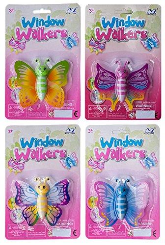 Preisvergleich Produktbild 9 x Fensterwanderer Fensterkletterer Schmetterling 9 x 8 cm Windows Walker