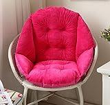 Stühle weichen Matratzen Rattanstühle dicken warmen Kissen Büro Rückenstützkissen Kissen All-in-One-PC 48 * 52 cm, Sitzkissen rot