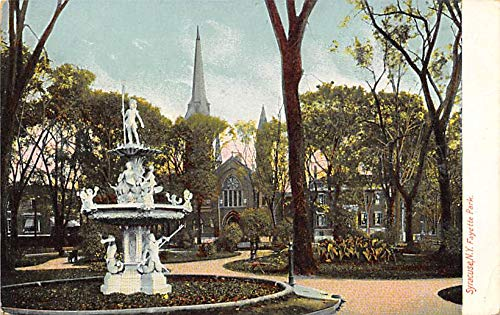 Statue in Fayette Park Syracuse, New York, USA Postcard Unused