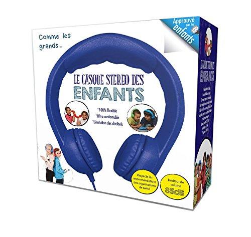 Megagic - CA4 - Casque Stéréo pour Enfant avec Limiteur de Volume - Comme Les Grands - Bleu