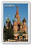 AWS Magnet PVC harte Moskau Sowjetunion Russland Moskow Moska Russian souvenir Magnet Fridge Magnet Magnet für Kühlschrank aus hartem Kunststoff mit Bild Foto Monument Red Square Quadrat rot