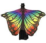SOMESUN Damen Schmetterling Flügel Schals Frau Mädchen Modisch Pfau Schmetterlingsflügel Mini Swing Drucken Halstücher Party Karneval Vintage Cosplay Kostüm Umschlagtücher