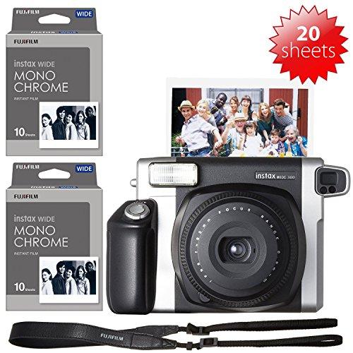 Fujifilm Instax Sofortbildkamera Instax 60 300 + Film B B + 4 x AA Akkus und Ladegerät