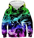 Fanient Sweats à Capuche fumée colorée fraîche nouveauté de garçons de d'adolescent Pull 12-13T