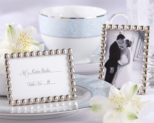 Silver Pearls Mini Photo Frame [SET OF 12] by Kateaspen