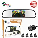 myTVS TVS-52 Video Reverse Parking Screen, Sensor and Camera with Distance Reading Voice - Black