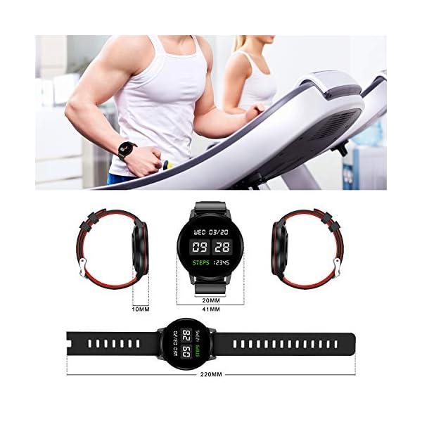 Smartwatch Deporte para Mujer Hombre con Pantalla Completa Táctil Monitores de Actividad Impermeable Outdoor Fitness… 8