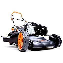 FUXTEC Gasoline Lawn Mower FX-RM18BS with 46 cm GT Self Propelled B & S Engine Easy Clean Briggs Stratton Engine Mower Mulching