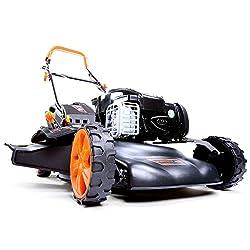 FUXTEC Benzin Rasenmäher FX-RM18BS mit 46 cm GT Selbstantrieb B&S Motor Easy Clean Briggs Stratton Motormäher Mulchen