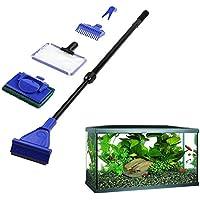 5 x/Set Aquarium Tank Reinigungs Fisch Net Kies Rake Algen Schaber Gabel Schwamm Bürste Glas Aquatic Reinigung Werkzeug