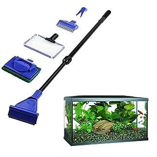 5Pcs/set Aquarium Tank Cleaning Kit Fish Net Gravel Rake Algae Scraper Fork Sponge Brush Glass Aquatic Cleaning Tools 514J tQr8lL