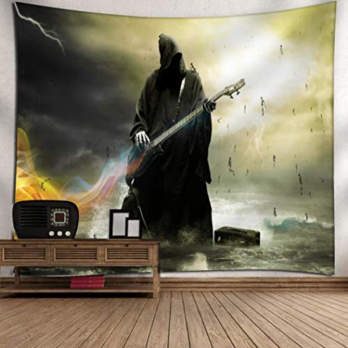 OverDose Damen Halloween Mond Kürbis Tapisserie Zimmer Bar Party Überraschung Tagesdecke Wand Kunst Hänge Home Decor Grand