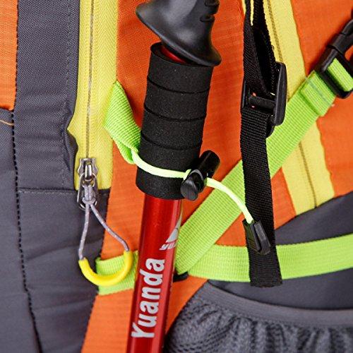 Zaino Da Attacco Tattico 40L Impermeabile Yy.f Zaino Da Bug Out Bag Borsa Da Montagna Passeggiate All'aperto Trekking Zaino Multifunzionale. 3 Colori Orange