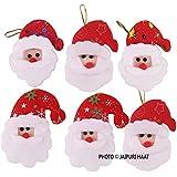 Jaipuri Haat Christmas Small Santa Clause Toys Set Of 6 ( 12 Cm)