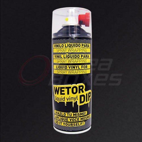 Spray pintura vinilo removible - Wetor Dip - Negro mate - 400...