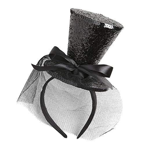 Widmann Minizylinder auf Haarreif (Mini Top Hat)