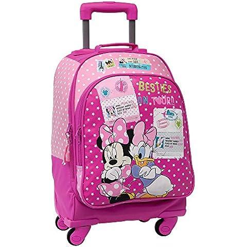 Disney Minnie y Daisy Trolley Convertible en Mochila, Color Rosa