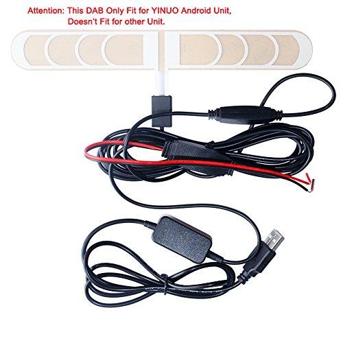 YINUO Aktive DAB/DAB+ Antennenelement Adapter Empfänger nur für YINUO 5.1.1 / 7.1.1 Autoradio
