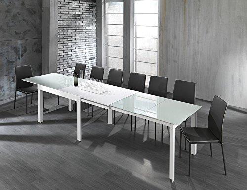 Tavoli Da Salotto Allungabili : Tavolo da salotto pranzo long white bianco allungabile fino a 3.5