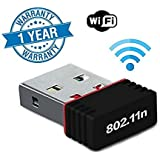 Supreno 600Mbps, 2.4Ghz, USB 2.0 Wireless Mini Wireless Receiver and Transmitter Wifi Adapter (1 Year Warranty, Assorted Colour)