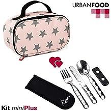 TATAY Urban Food MiniPlus Stars - Bolsa Térmica Porta Alimentos con Táper Hermético Ovalado y Cubiertos Incluidos, Color Stars, Medidas 21.5 x 9 x 12 cm