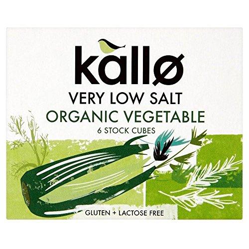 Kallo biologique Cubes de Salt Très faible légumes d'achat d'actions (6x10G) - Paquet de 2