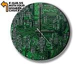 Unbekannt Green Circuitboard Photo Clock Wanduhren Foto Uhr