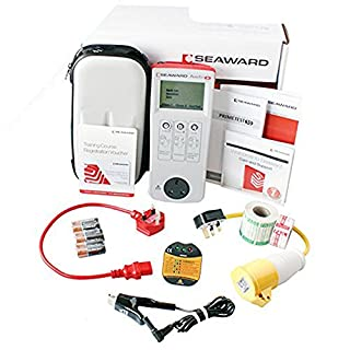 Seaward KIT71 Primetest 50 PAT Tester Kit Including Online PAT Training Course with Online Assessment, PASS & FAIL Labels, Socket Tester & More - Primetest 50 Is A LCD Portable Appliance Tester, Can Test Class 1, Class 2 Cables & IT Equipment At The Press Of A Button