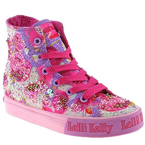 Lelli Kelly LK9200 (BM02) Lilac Fantasy Lilac Mid Baseball Boots-35 (UK 2.5)