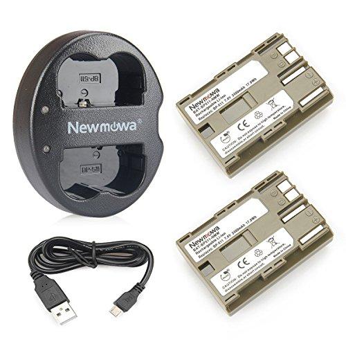 Newmowa Double USB Chargeur + 2 Remplacement Batteries BP-511 pour Canon BP-511 BP-511A Canon EOS 5D 10D 20D 30D 40D 50D Rebel 1D D60 300D D30 Kiss Powershot G5 Pro 1 G2 G3 G6 G1 Pro90