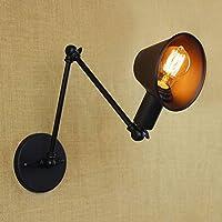 z@ss Lampade da parete retrò, ombra di ferro nero opaco regolabile forcellone lettura parete lamps,31-40(W) - E27/E26