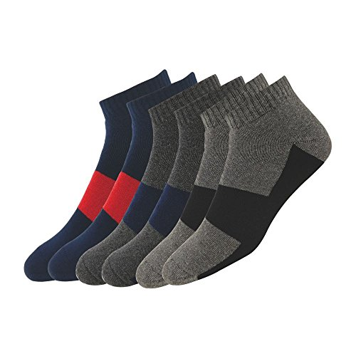 Maanja Men's Cotton Socks, Pack of 3 (Multi-Coloured)