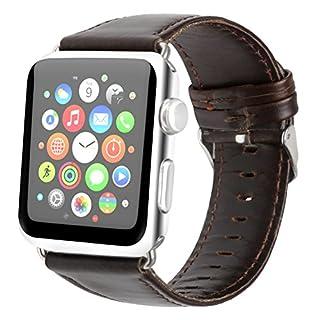 Apple Watch Armband , ANGGO Leder iwatch Strap Ersatz Armbanduhr Armband Gürtel Uhrenarmband für Apple Watch Serie 2 Serie 1 Alle Version (42mm / Dunkelbraun)