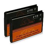 Bundle - 2x Power Batterie CT-3650 pour Contour GPS HD 1080P