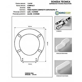 Toilet Compact Eos White Zip Chrome
