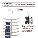 Smart-Hangers / Tuch & Krawatten Halter / Grau -- platzsparende antirutsch Bügel