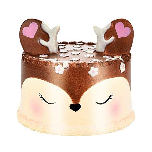 �chterner Rotwild-Kuchen weich Langsam Steigendes Spielzeug Stress Relief Geschenk für Erwachsene und Kinder ()