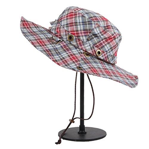 Chapeau De Loisirs Dame Printemps Et En été Chapeau De Soleil à Larges Bords Vacances Chapeau Pliable red