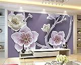 YUANLINGWEI Benutzerdefinierte Wandbild Tapete 3D Fashion Floral Relief Für Wände Hotel Wohnzimmer Home Dekoration,270cm (H) X 350cm (W)