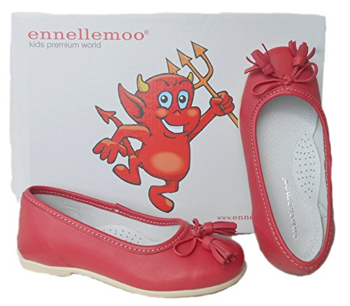 ennellemoo®  Made in EU , Chaussons / Ballerines / Mocassins fille Mohnrot