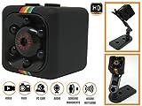 Piushopping Mini videocamera video camera telecamera nascosta micro visione notturna sensore di movimento spycam infra red 1080p (Nero)