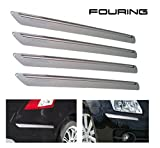 #9: i for pop Force Safety Bumper Gurad Protector Silver for Hyundai i20 Elite
