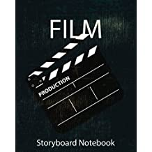 "Storyboard :Film Notebook & Journal :Storyboard Template :Cinema :Navy Scene: (8""x 10"" Notebook with black grunge cover, 4 frames per page ideal for filmmakers, advertisers, animators)"