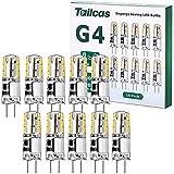 G4 LED-lampen, 1.5W AC/DC 12V minicapsule-lamp (20W halogeen G4-lamp equivalent), 150LM 3000K bi-pin basis JC Type Nee Flikke