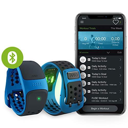 MIO Link Activity Tracker, mit Herzfrequenzmessung, Ohne Brustgurt, Einstellbare Herzfrequenzzonen, EKG-genaues Fitnessarmband mit Smartphone App, 14,9 - 20,8 cm Handgelenkumfang, aqua blau