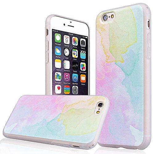 """WE LOVE CASE iPhone 6 Plus / 6s Plus 5,5"""" Hülle Weich Silikon iPhone 6 Plus 6s Plus 5,5"""" Schutzhülle Handyhülle Im Kreativ Bunt Muster Handytasche Cover Case Etui Soft TPU Handy Tasche Schale Schlank  Bunt"""